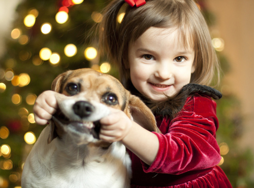Kind-weihnachts niedlich