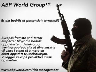 Anti terror og sikkerhets opplæring training Norge