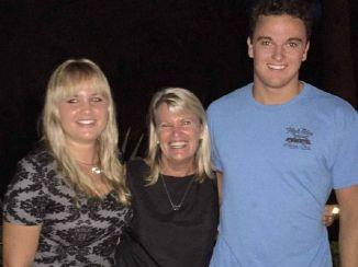 Samantha and Reece Geldenhuys with mum Dorothy Lee Barnett