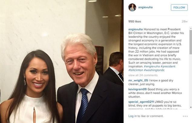 Angie-Vu Bill-Clinton